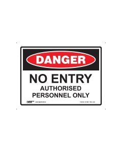 Danger No Entry 300mm x 225mm - Polypropylene