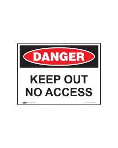 Danger Keep Out No Access 600mm x 450mm - Metal