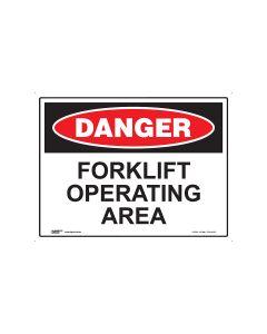 Danger Forklift Operating 600mm x 450mm - Polypropylene