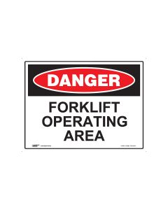 Danger Forklift Operating 600mm x 450mm - Metal