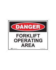 Danger Forklift Operating 600mm x 450mm - Metal