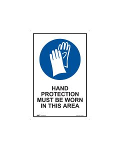 Hand Protection Required 300mm x 450mm - Polypropylene
