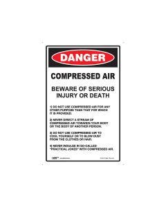 Danger Compressed Air 300mm x 450mm - Metal