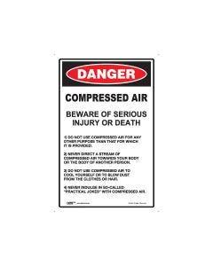 Danger Compressed Air 300mm x 450mm - Metal