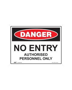 Danger No Entry 600mm x 450mm - Coreflute