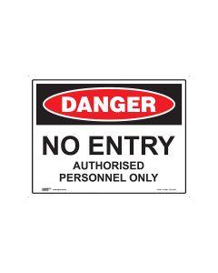 Danger No Entry 600mm x 450mm - Coreflute