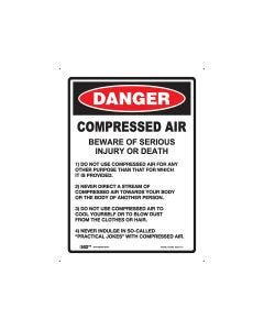 Danger Compressed Air 225mm x 300mm - Polypropylene