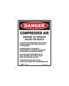 Danger Compressed Air 225mm x 300mm - Polypropylene