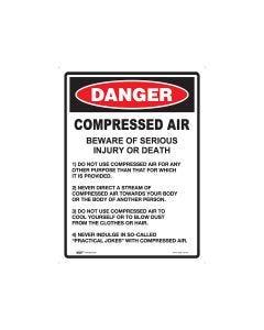 Danger Compressed Air 450mm x 600mm - Metal