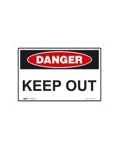 Danger Keep Out 450mm x 300mm - Metal