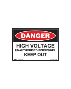 Danger High Voltage 250mm x 180mm - Self Sticking Vinyl