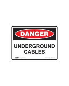 Danger Underground Cable 300mm x 225mm - Polypropylene