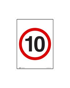 10kph Speed Limit 450mm x 600mm - C2 Reflective Aluminium
