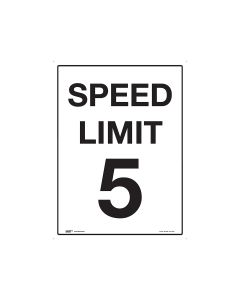 5kph Speed Limit 450mm x 600mm - Metal