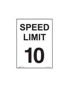 10kph Speed Limit 450mm x 600mm - Metal