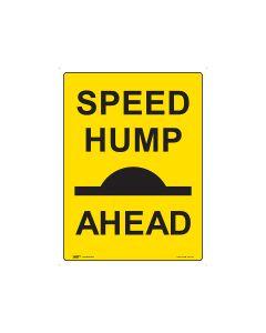 Speed Hump Ahead 450mm x 600mm - Metal