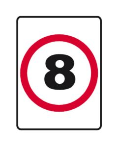 8kph Speed Limit 450mm x 600mm - Metal