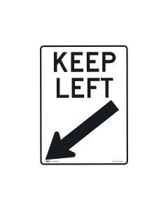 Keep Left 450mm x 600mm - C2 Reflective Aluminium