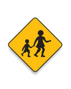 Children Crossing 600mm x 600mm - C2 Reflective Aluminium