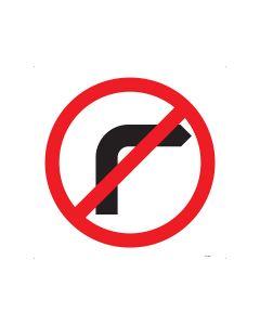 No Right Turn 600mm x 600mm - C2 Reflective Aluminium