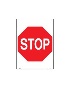 Stop Sign 450mm x 600mm - Metal