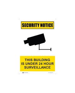 Security Notice 24 Hour Surveillance 300mm x 450mm - Polypropylene