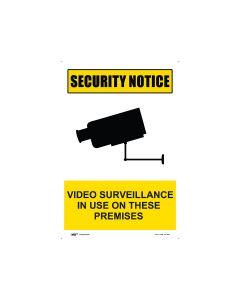 Security Notice Video Surveillance 300mm x 450mm - Metal