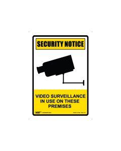 Security Notice Video Surveillance 180mm x 250mm - Self Sticking Vinyl