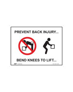 Prevent Back Injury 600mm x 450mm - Polypropylene