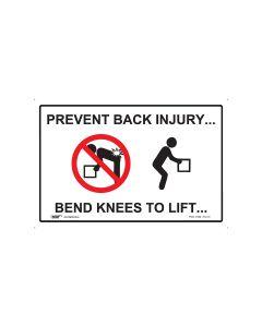 Prevent Back Injury 450mm x 300mm - Polypropylene