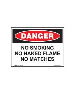 Danger No Smoking 600mm x 450mm - Metal