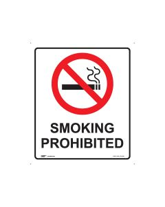 Smoking Prohibited 300mm x 350mm - Metal