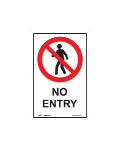 No Entry 300mm x 450mm - Metal