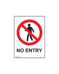 No Entry 450mm x 600mm - Polypropylene