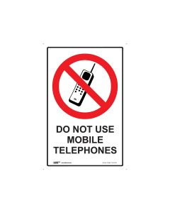 Do Not Use Mobile Phones 300mm x 450mm - Metal