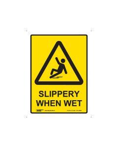 Slippery When Wet 225mm x 300mm - Polypropylene