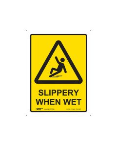 Sippery When Wet 600mm x 450mm - Polypropylene