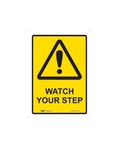 Watch Your Step 180mm x 250mm- Self Sticking Vinyl
