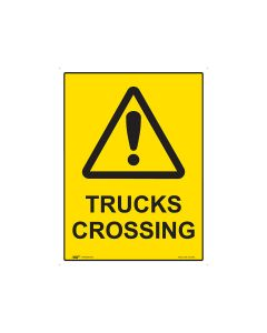Trucks Crossing 600mm x 450mm - Metal
