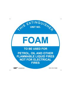 Fire Extinguisher Foam 200mm Diameter - Polypropylene