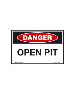 Danger Open Pit 600mm x 450mm - Polypropylene