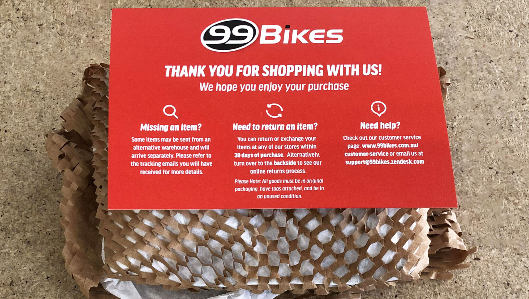 99 Bikes product wrapped in Geami