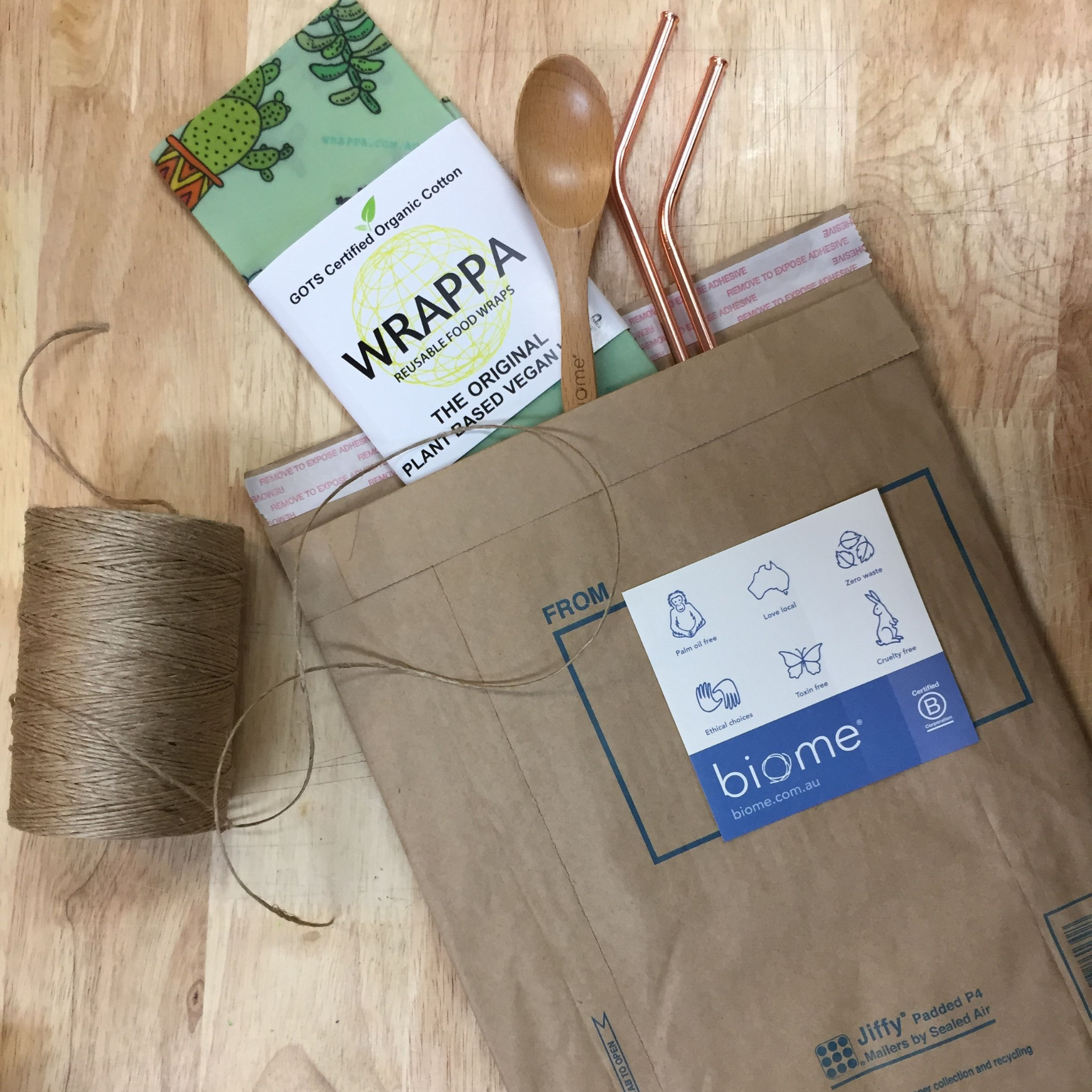 Biome Products in Jiffy Bag