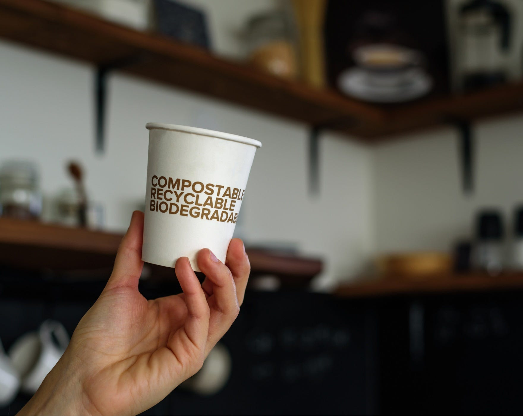 Compostable Recyclable Biodegradable Coffee Cup