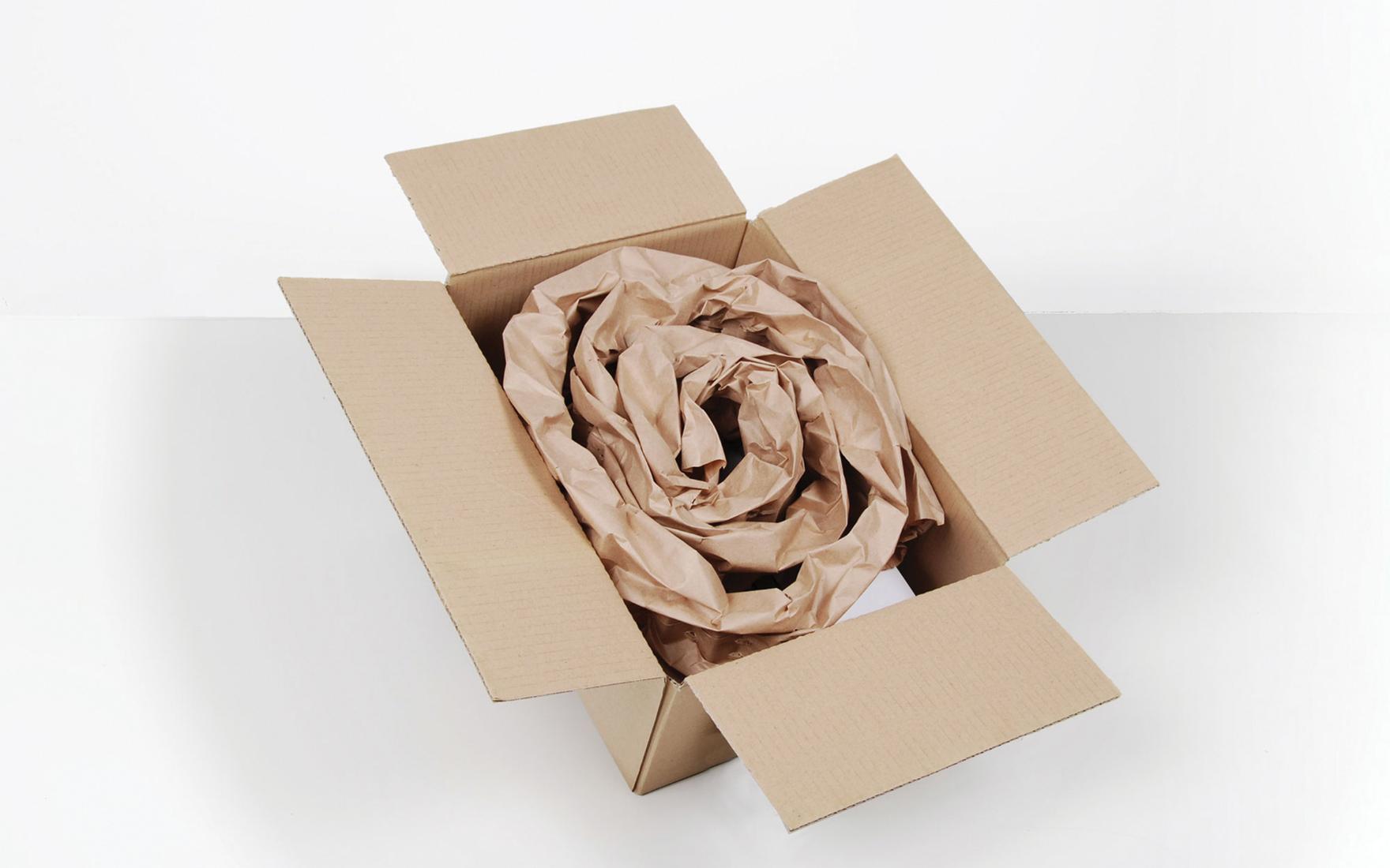 PadPak Spiral Configuration in carton