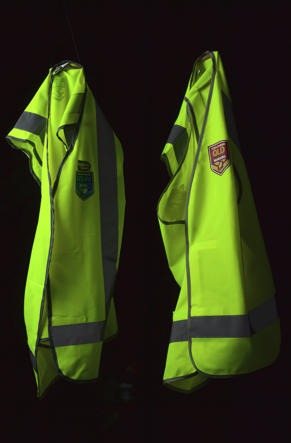 Signet's QLD and NSW State of Origin Safety Vests