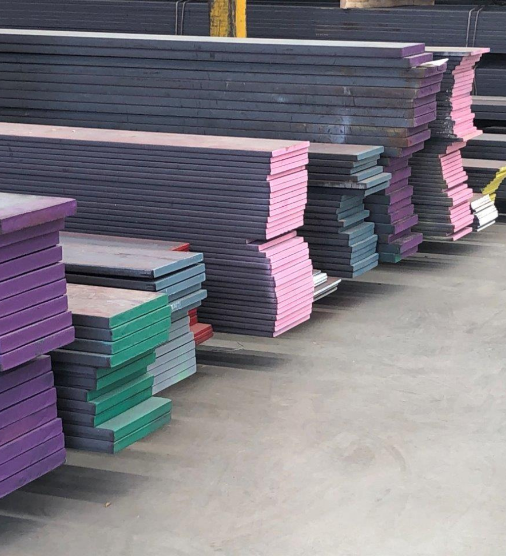 Steelforce Steel marked with Signet's Colour Coding Spray