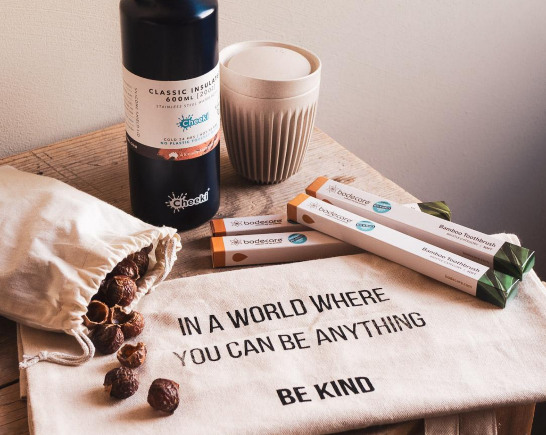 Be Kind Co products on a table